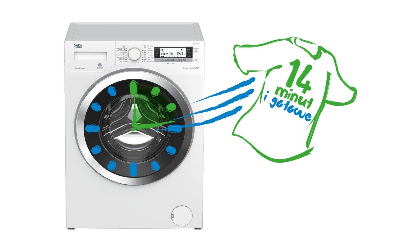 Szybkie pranie w pralce Beko WRE5612BSW