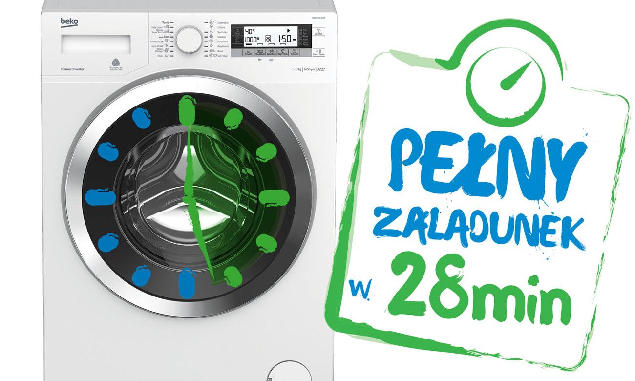 Program Codzienne Szybkie pranie w pralce Beko WRE6612BWW