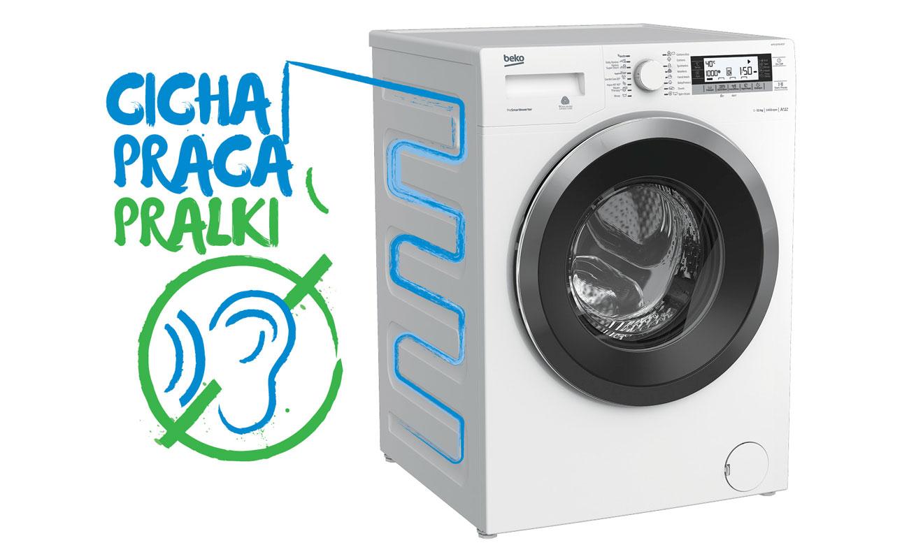 Ciche pranie w pralce Beko WRE7612XWW
