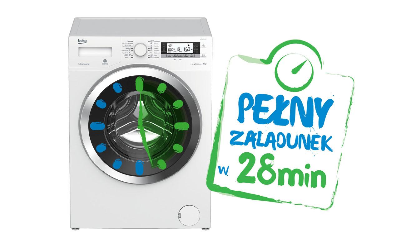 Pranie Codzienne Szybkie w pralce Beko WRE7612XWW