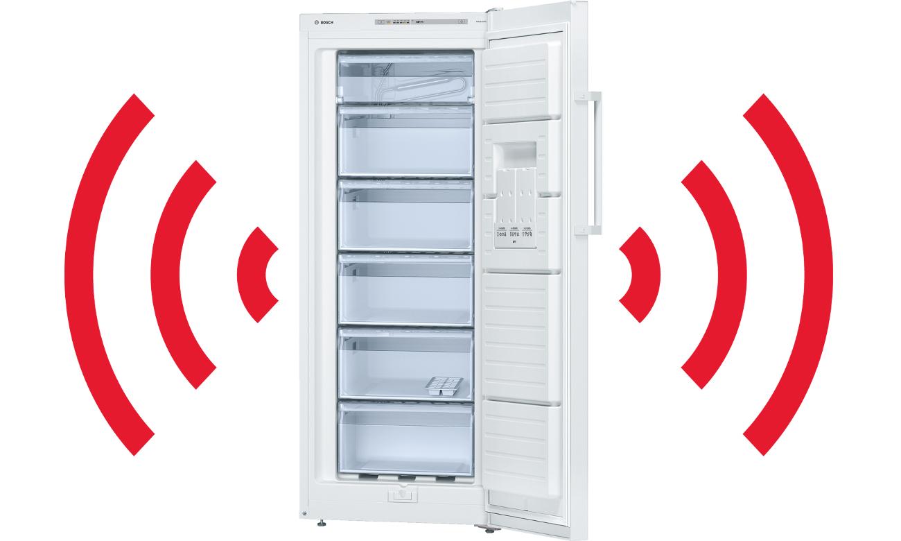 alarm zbyt wysokiej temperatury w zamrażarce Bosch GSV24VW31
