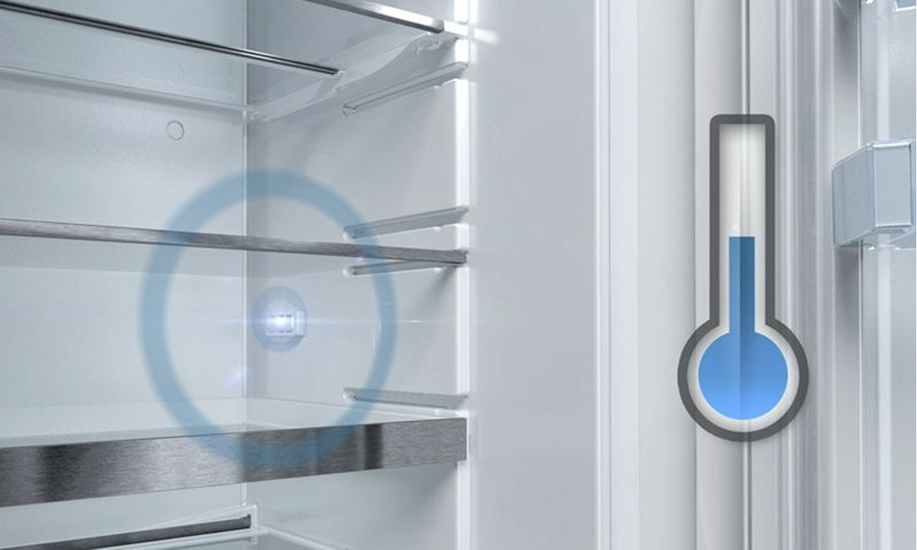 Stała temperatura, dzięki technologii FreshSense w lodówce Bosch KGN39ML3B