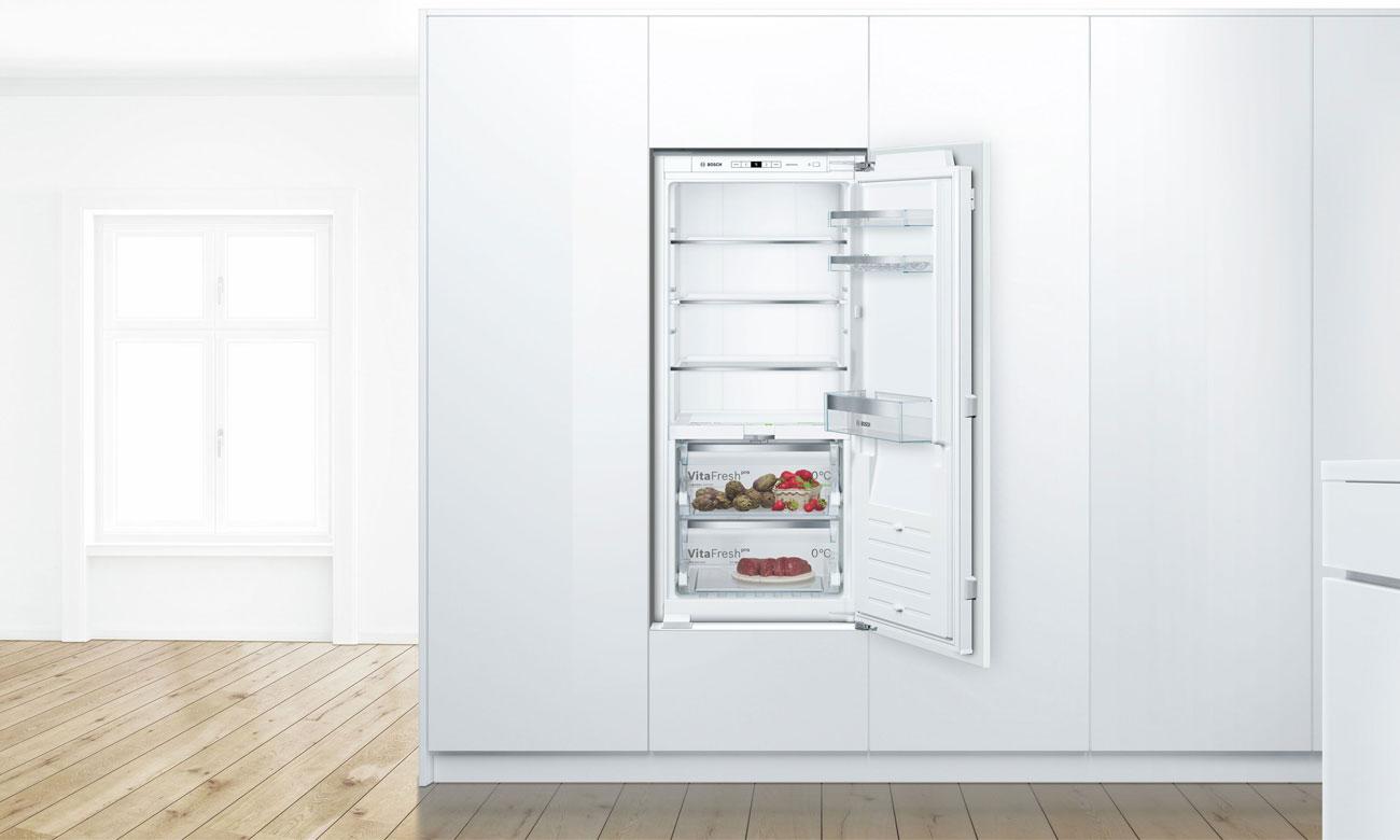 Stała temperatura, dzięki czujnikom FreshSense w lodówce do zabudowy Bosch KIF41AF30