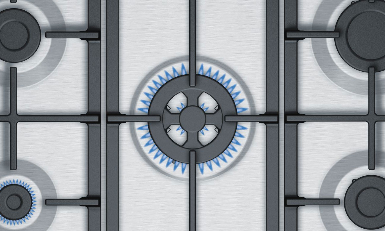 Płyta do zabudowy Bosch PGQ7B5B90 ma palnik wok
