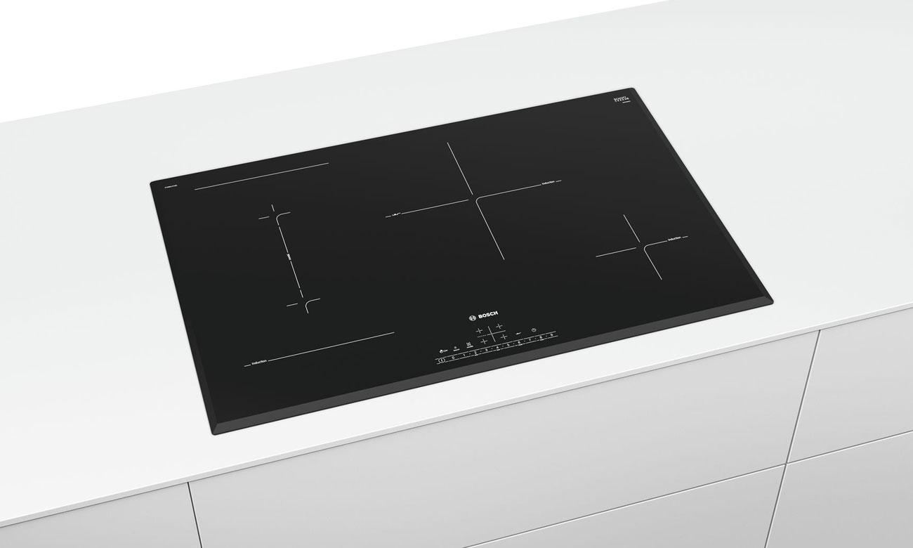 Płyta do zabudowy Bosch PVS851FB5E ma timer i czasowy wyłącznik bezpieczeństwa