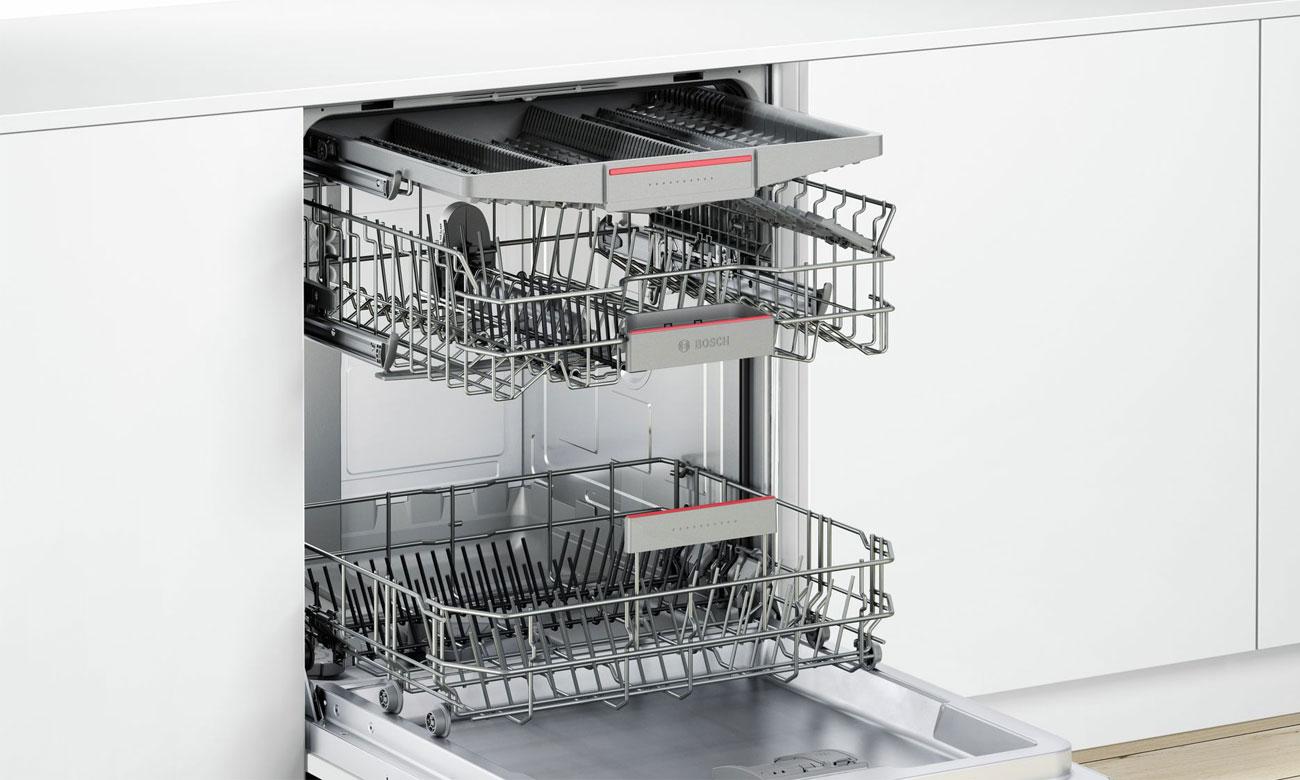 Szuflada na sztućce i małe akcesoria kuchenne Vario3 w zmywarce Bosch SMV46KX02E