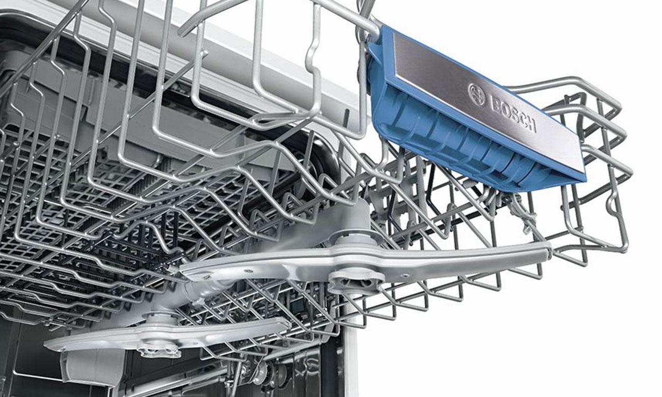 Delikatne czyszczenie naczyń, dzięki rozwiązaniu DuoPower w zmywarce do zabudowy Bosch SPV44IX00E