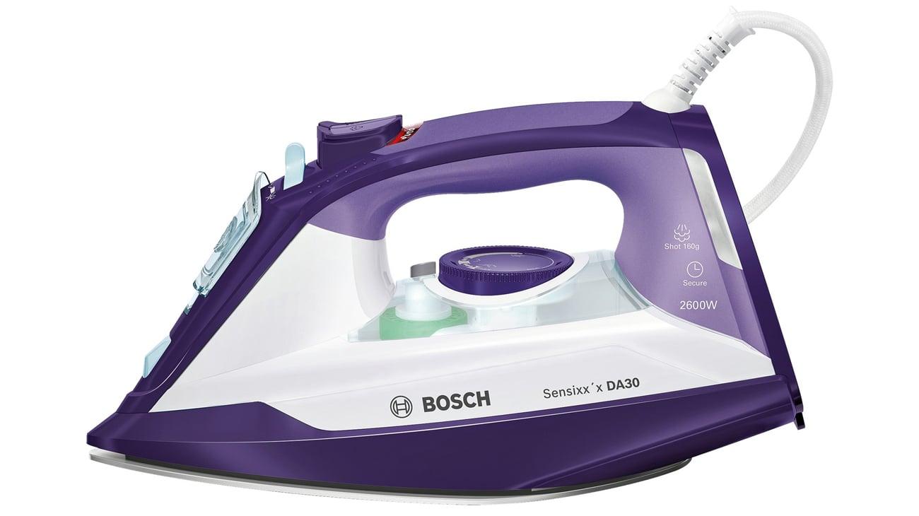 Żelazko Bosch Sensixx'x DA30 Secure fioletowy/biały 2600W parowe TDA3026110
