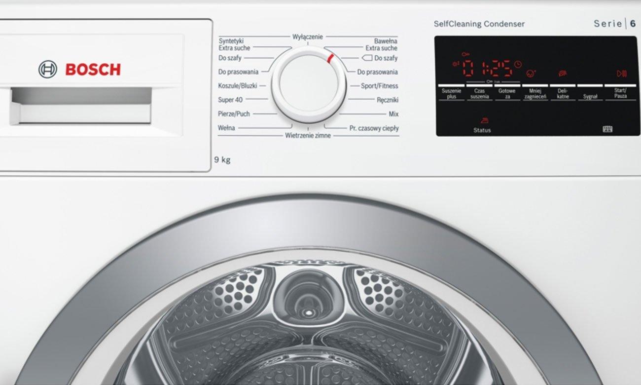 Przyciski Touch Control w Bosch WTW85461PL