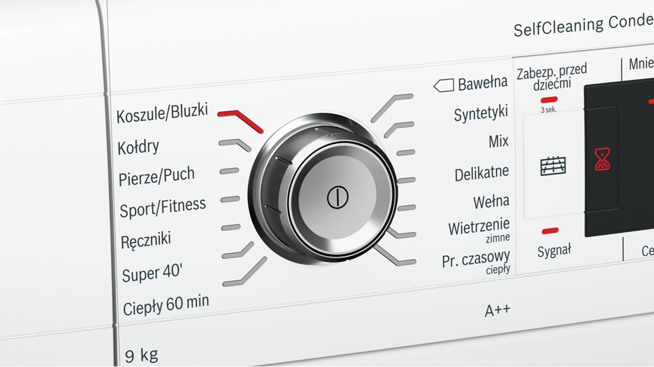 Przyciski Touch Control w Bosch WTW85562PL