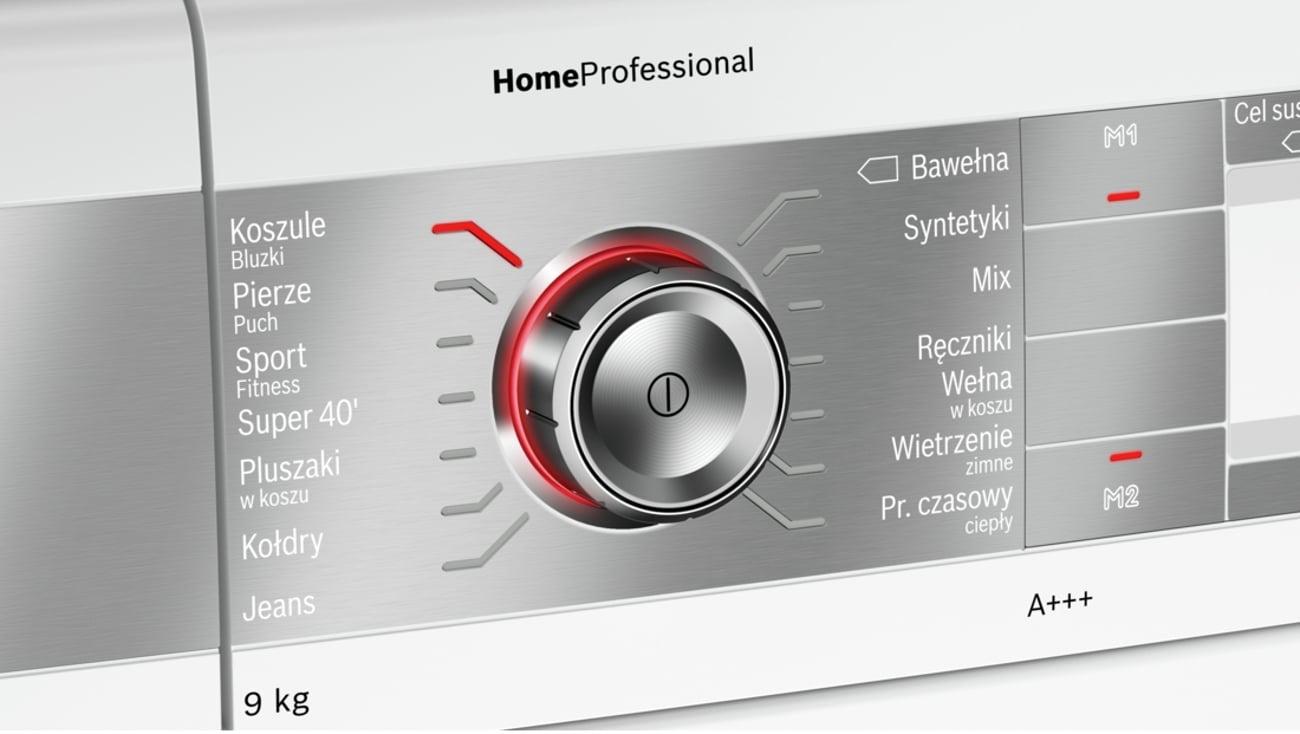 Przyciski Touch Control w Bosch WTY887W0PL