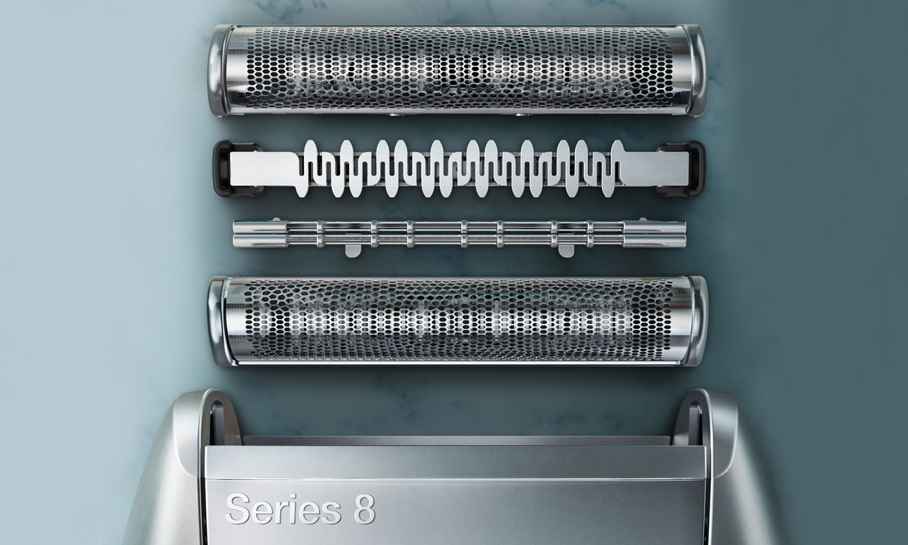 głowica golarki Braun 8385cc wyłapuje nawet najmniejsze włoski