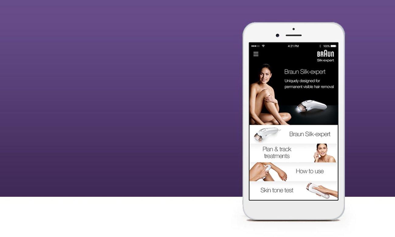 Depialtor IPL Braun Silk-expert BD3005 aplikacja android ios google play
