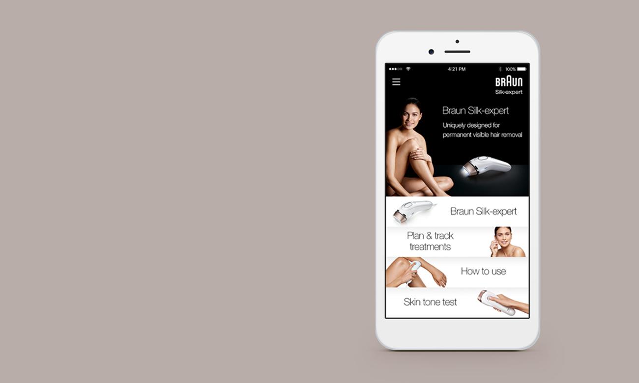 Depialtor IPL Braun Silk-expert BD 5009 aplikacja android ios google play