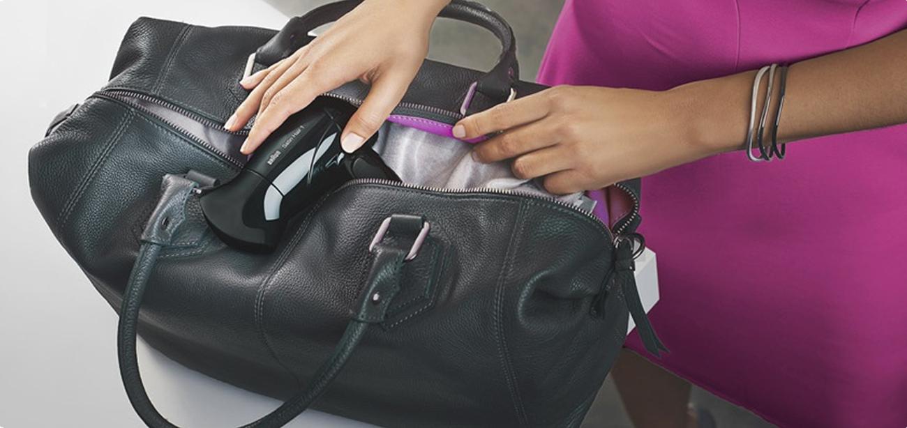 Braun Satin Hair 3 HD350 jest łatwa do transportu