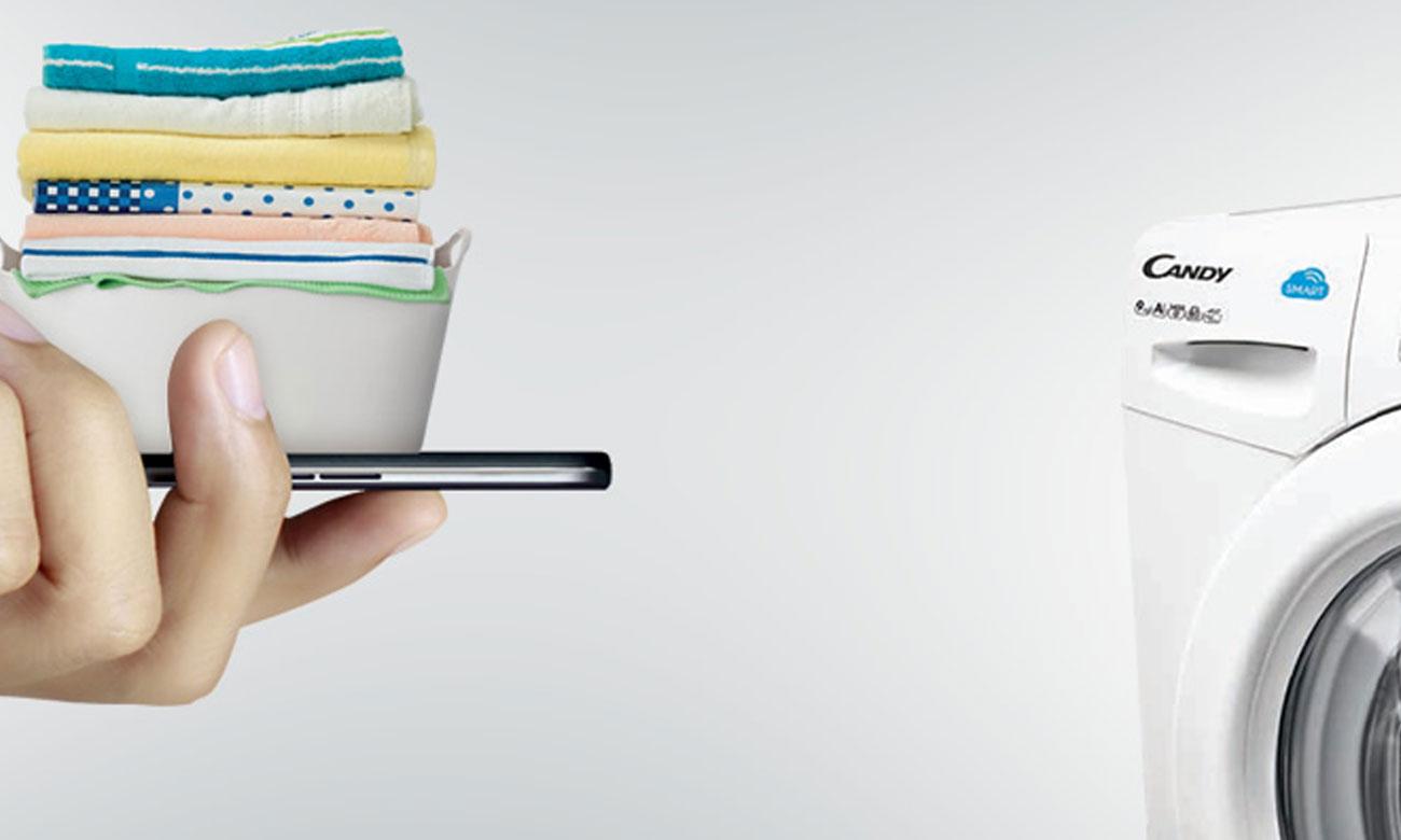 Bezprzewodowe łączenie, dzięki technologii Smart Touch w suszarce do ubrań Candy CS4 H7A1DE-S