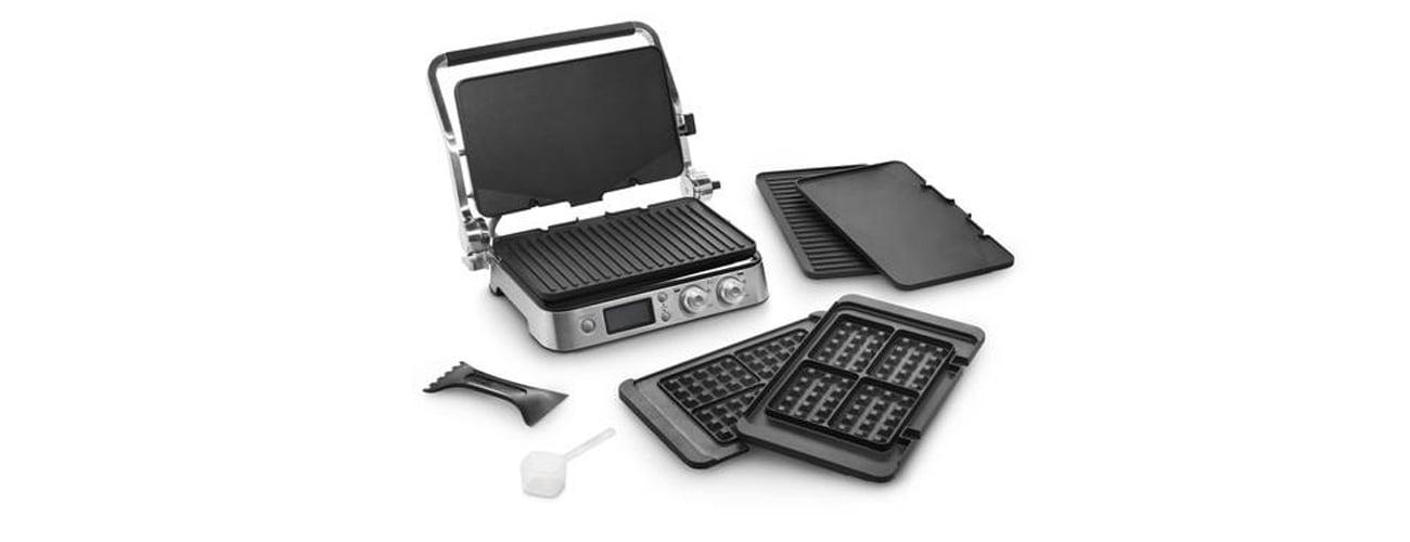 Электрический гриль DeLonghi CGH 1030D 2000W оснащен оборудованием, оснащенным светодиодным дисплеем
