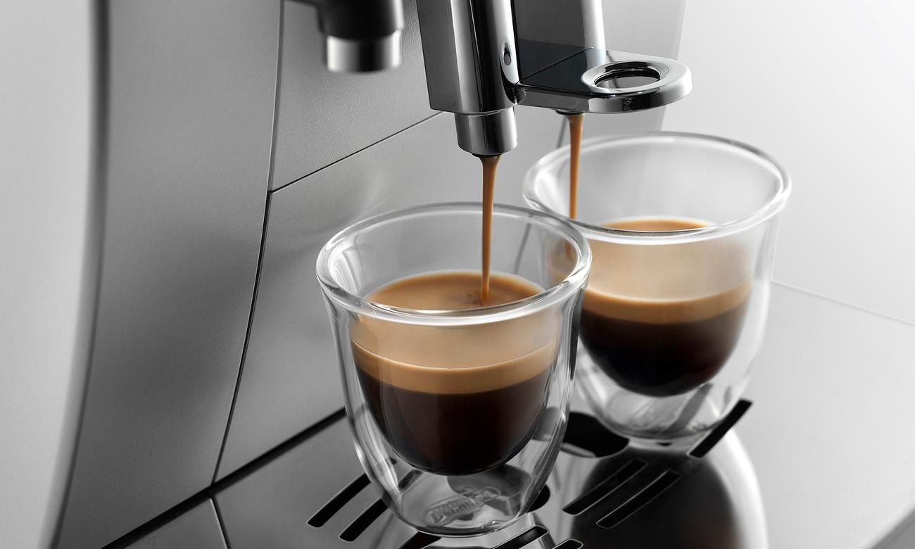 dwa espresso jednocześnie dzięki ekspresowi DeLonghi ECAM 23.460.S