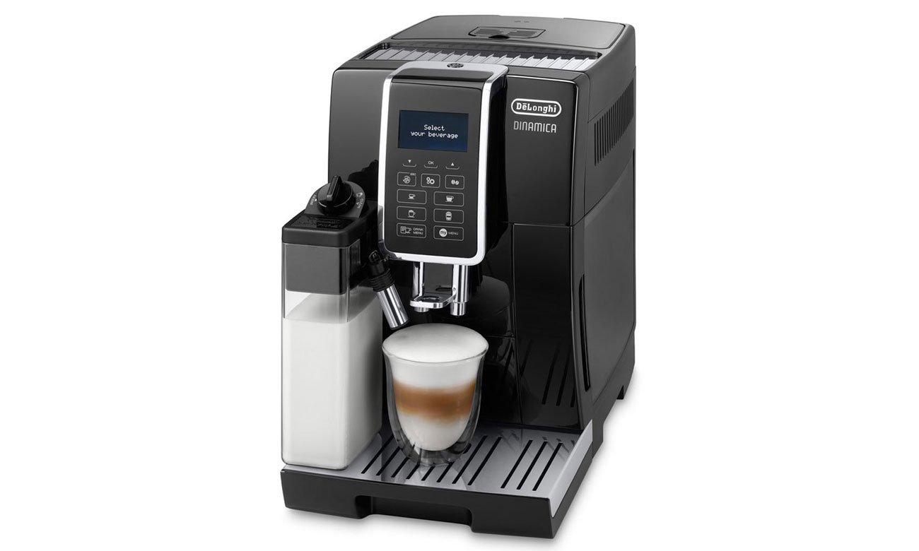 Ekspres do kawy DeLonghi Dinamica ECAM 350.55.B gwarantuje pyszną kawę
