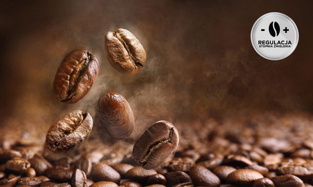 Ekspres do kawy DeLonghi Dinamica ECAM 350.55.B z wytrzymałym młynkiem i regulacją mielenia