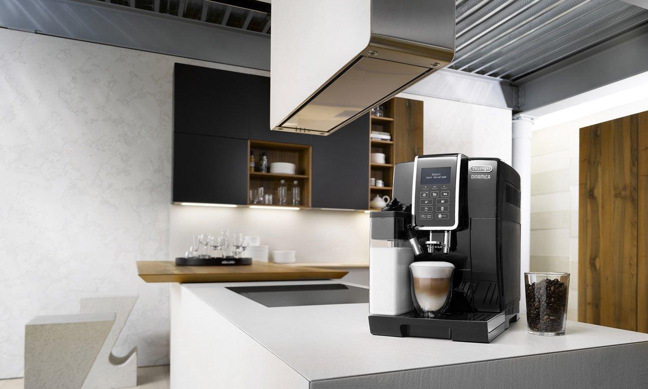 Regulacja wysokości adaptera do kawy w DeLonghi Dinamica ECAM 350.55.B