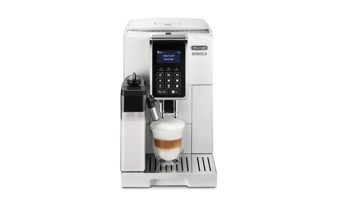 Regulowana wysokość adaptera do kawy - do 13,5 cm w DeLonghi ECAM 353.75.W