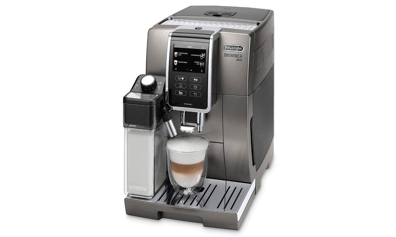 Ekspres do kawy automatyczny DeLonghi Dinamica Plus ECAM 370.95.T opinie recenzja