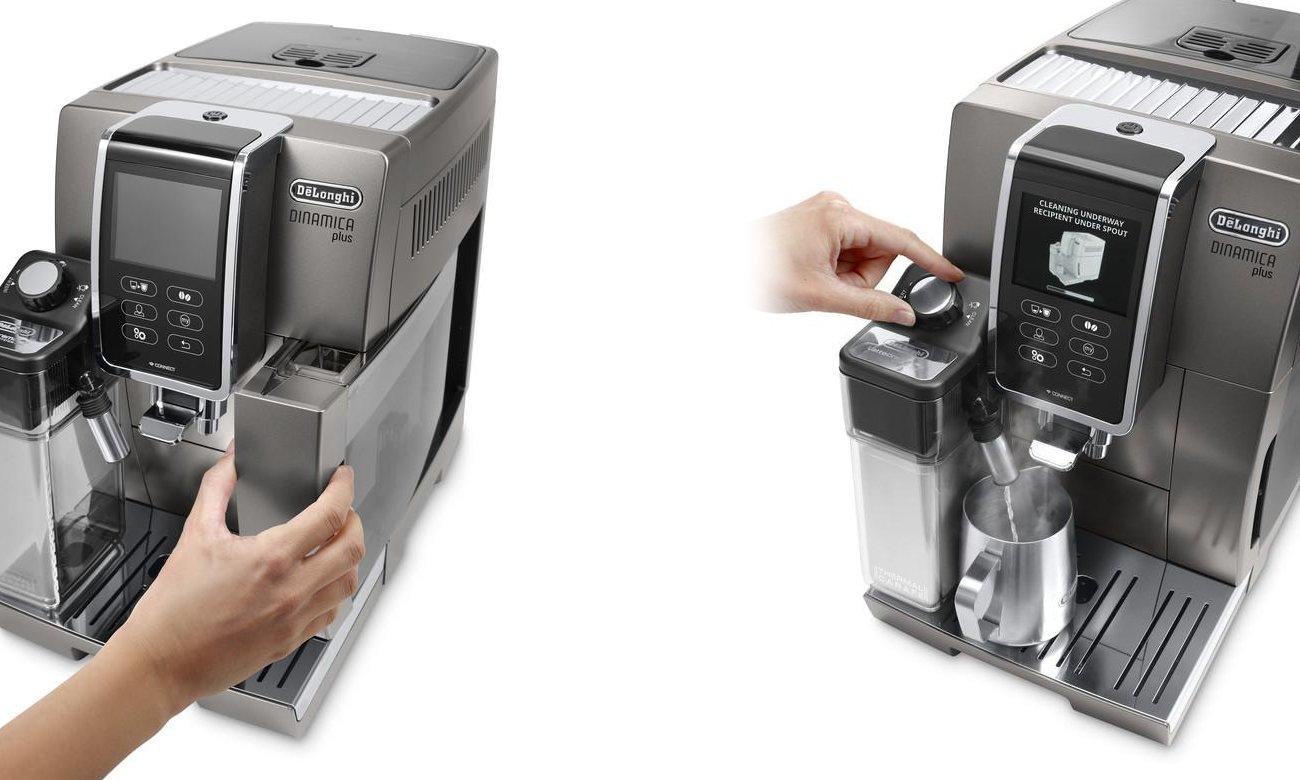 Automatyczna konserwacja ekspresu DeLonghi ECAM 370.95.T Dinamica Plus