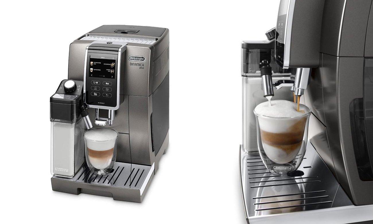 System spieniania mleka LatteCrema w ekspresie DeLonghi ECAM 370.95.T Dinamica Plus