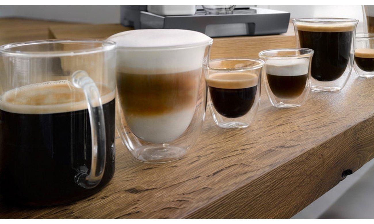 Ekspres do kawy DeLonghi ECAM 370.95.T Dinamica Plus ma kolorowy wyświetlacz dotykowy