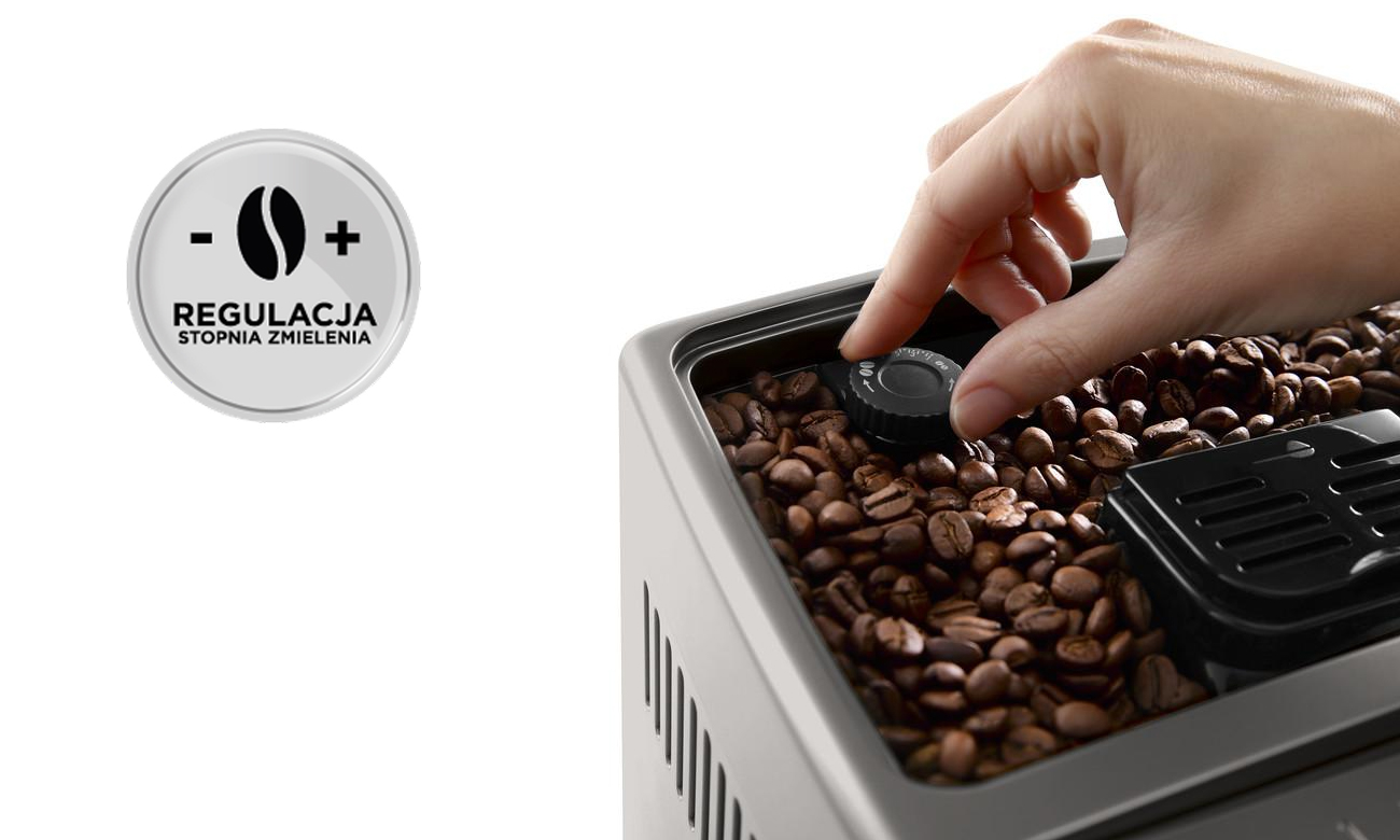 Ekspres do kawy Dinamica Plus DeLonghi ECAM 370.95.T zapewnia bogaty i intensywny aromat kawy