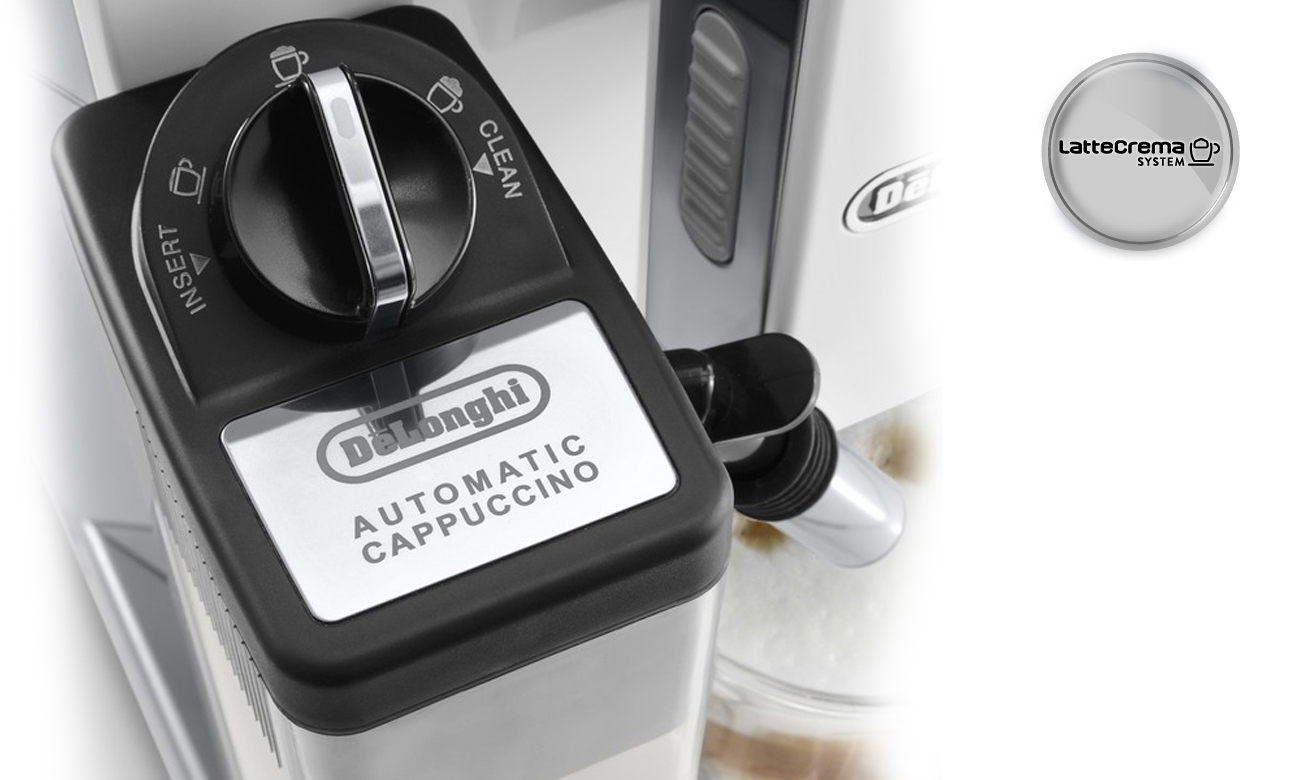 Ekspres z systemem lattecrema DeLonghi Eletta Cappuccino Top 45.760.W