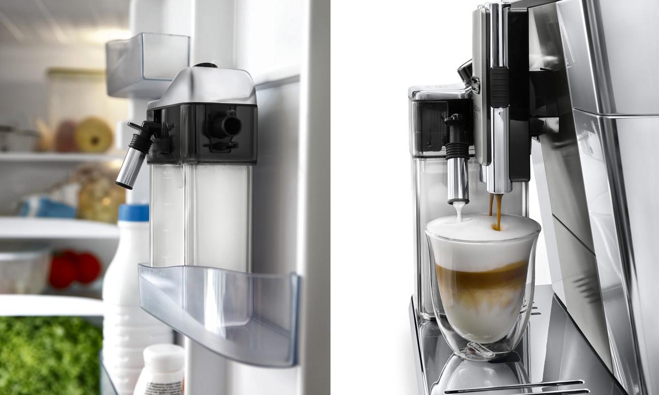 Automatický systém mléčného napěnění LatteCrema v DeLonghi ECAM 650.55.MS