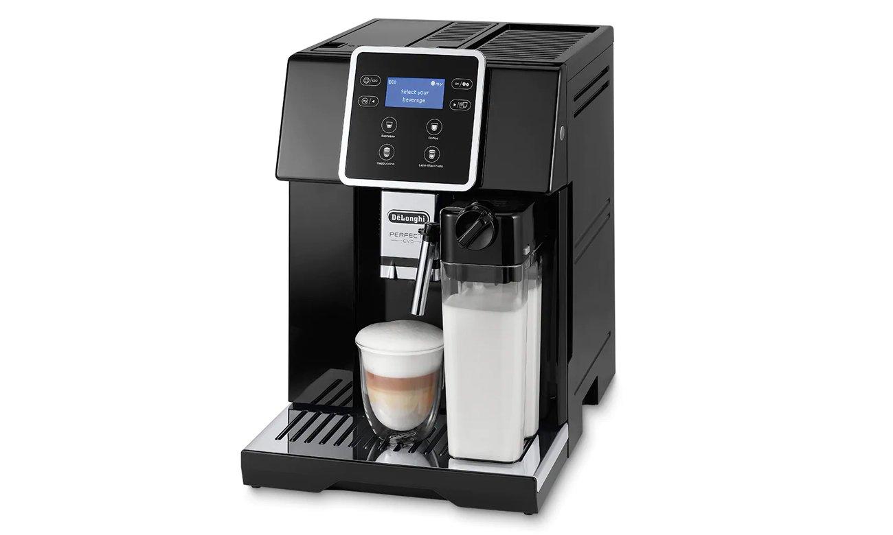Regulowana wysokość adaptera do kawy - do 13,5 cm w DeLonghi ESAM 420.40.B Perfecta EVO