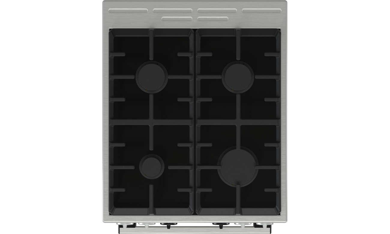 Kuchnia Gorenje KC5355XV posiada płytę gazową