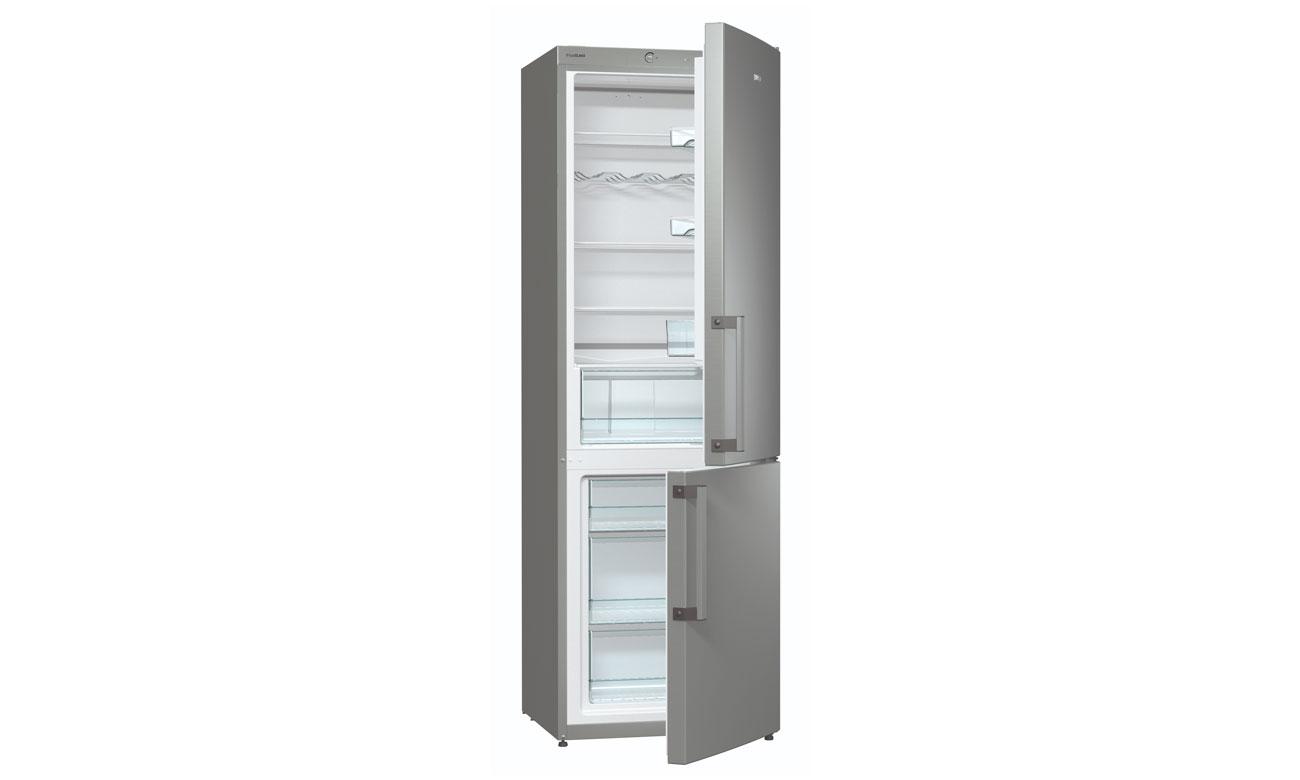 Szklane półki w lodówce Gorenje RK6191AX