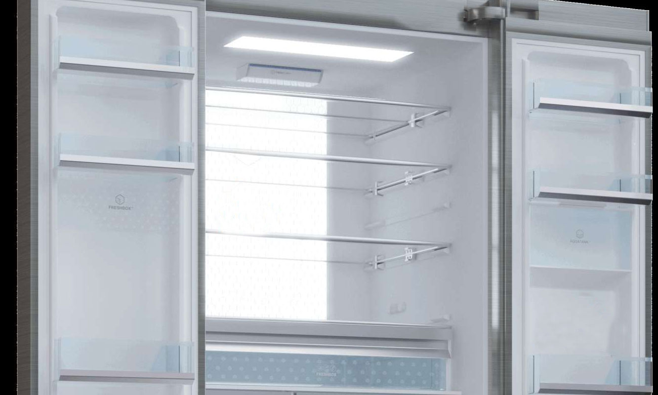 Wydajne oświetlenie LED w lodówce Haier HB22FWRSSAA