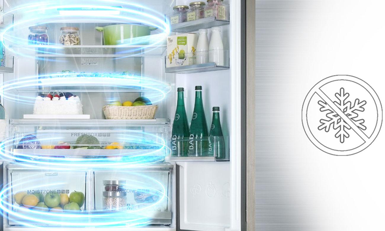 System automatycznego rozmrażania No Frost w lodówce Haier HB22FWRSSAA