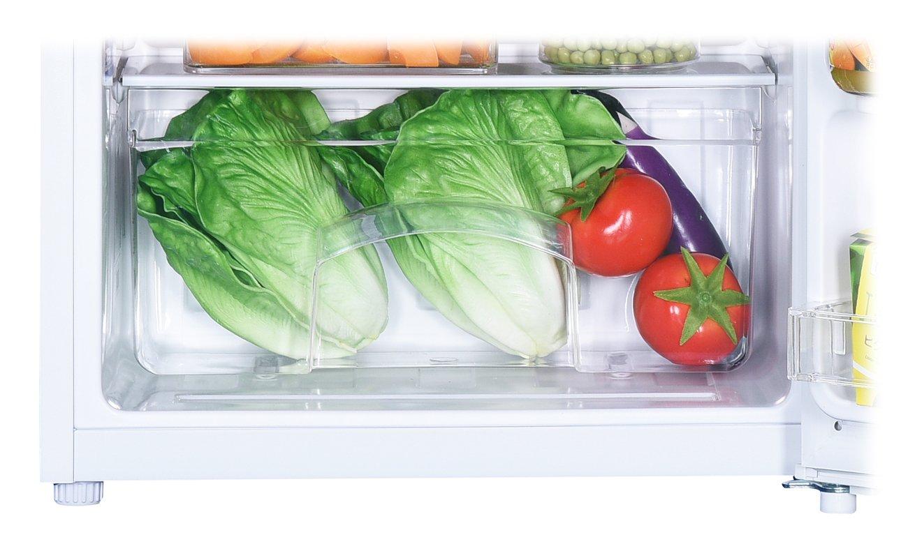 Chłodziarka Haier HTTF-406EW ma szyfladę na warzywa i owocw
