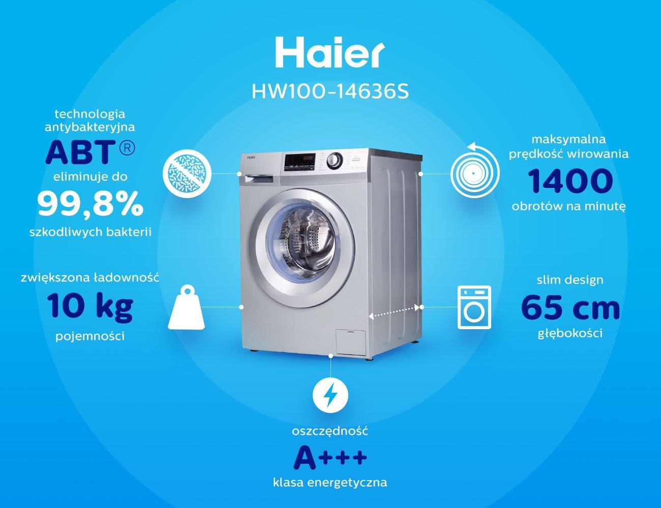 Pralka Haier HW100-14636S
