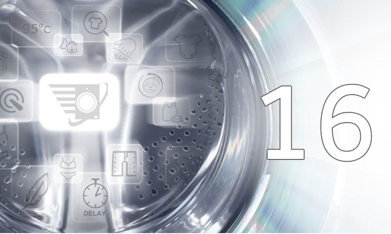 16 programów prania w pralce Haier HW100-14636S