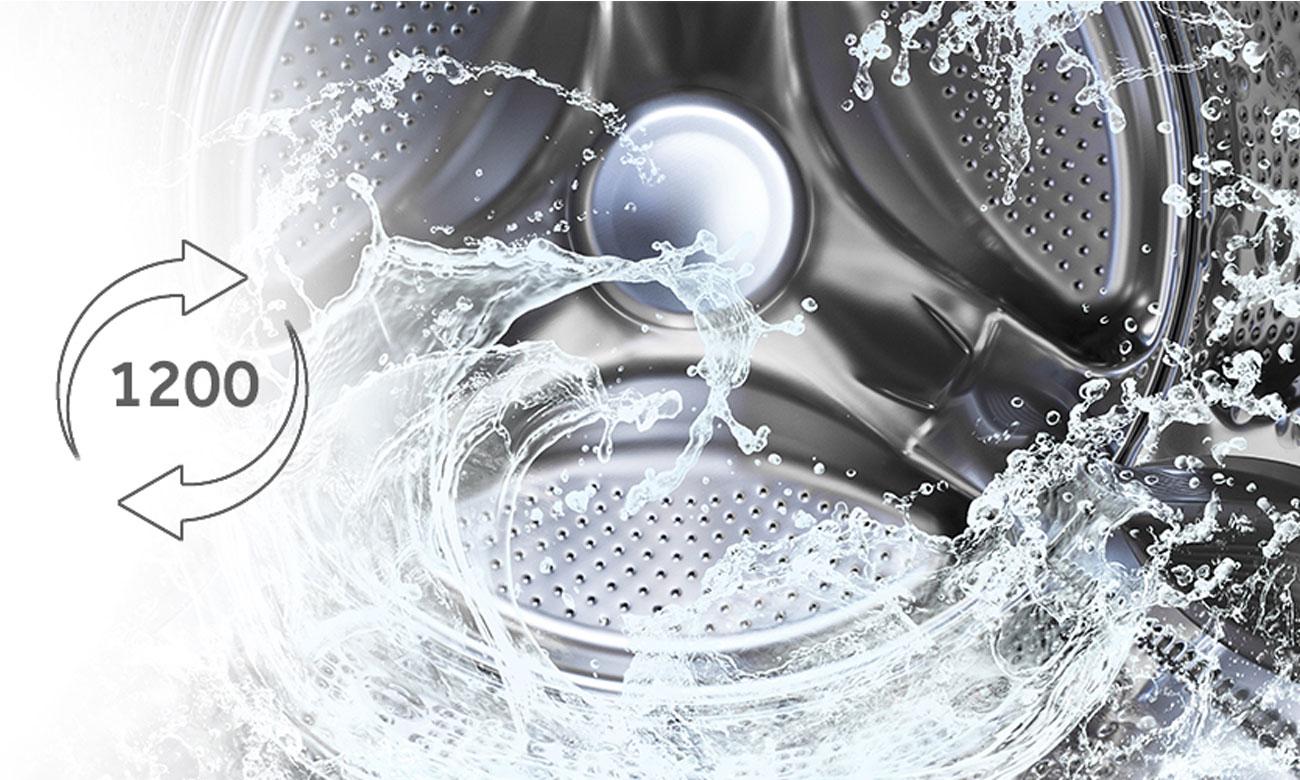 Regulacja prędkości wirowania w pralko-suszarce Haier HWD70-1260CD4