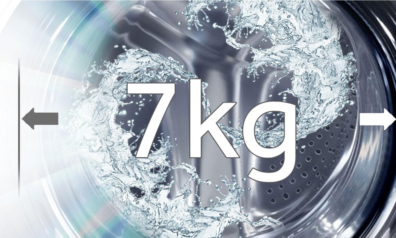 Pojemność 7 kg w pralko suszarce Haier HWD70-1260CD4