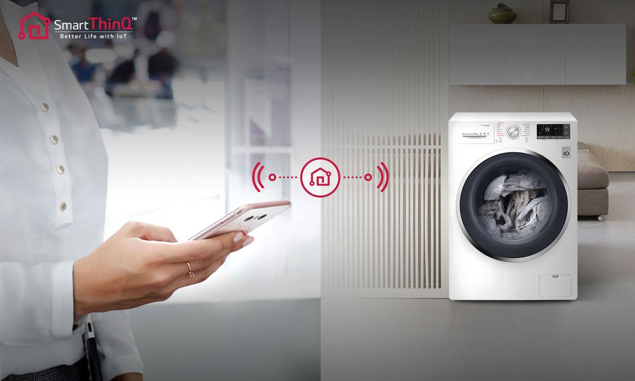 Technologia SmartThinQ w pralko-suszarce LG F2J7HG2W