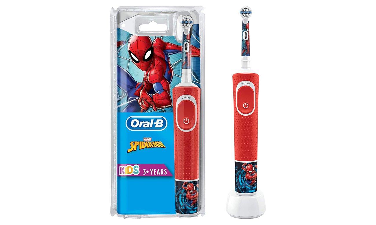 Szczoteczka elektryczna dla dzieci Oral-B D100 Kids Spiderman