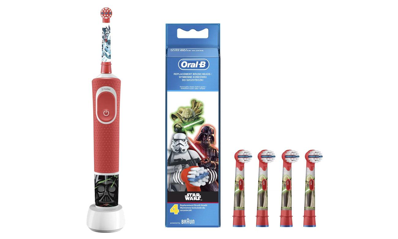 Szczoteczka elektryczna Oral-B D100 Kids StarWars + końcówki Oral-B EB10-4 Star Wars opinie