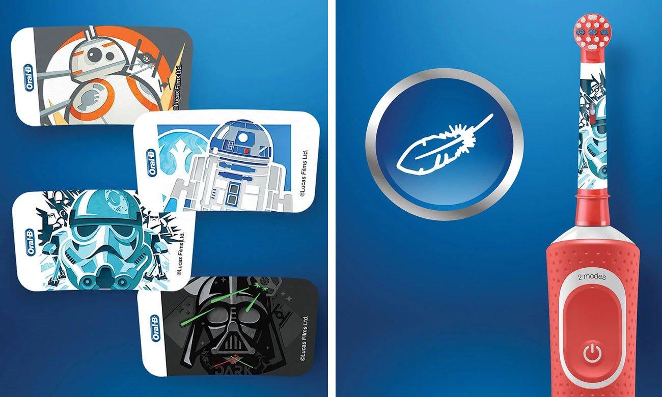 Szczoteczka elektryczna Oral-B D100 Kids Star Wars + Etui Podróżne