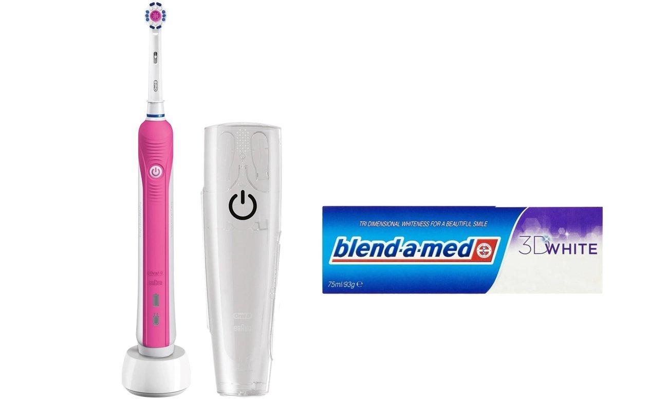 Zestaw Oral-B Szczoteczka Pro 750 Pink + Pasta