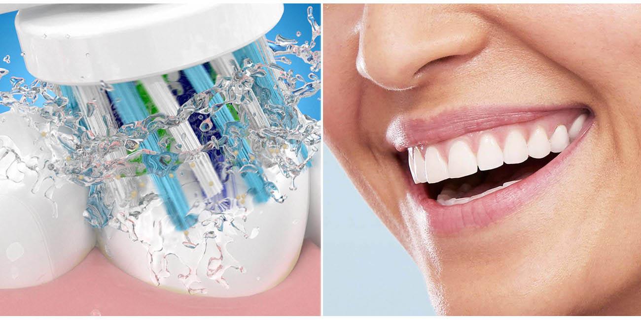 Technologia czyszczenia 2D w szczoteczce Oral-B Vitality 100 CrossAction
