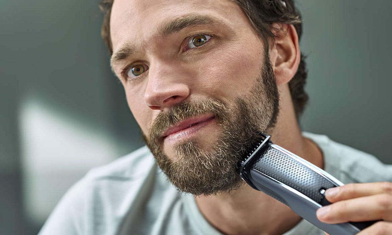 Trymer Philips BT5502/15 zapewnia precyzyjne i równomierne przycinanie włosów